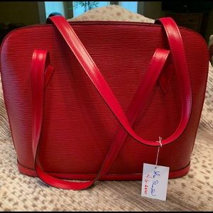Guaranteed Authentic Louis Vuitton Lussac Red Epi